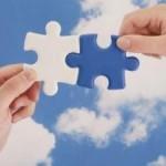 unione di mani simbolo di cooperazione